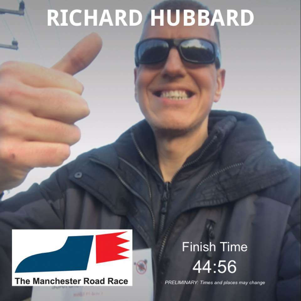 Rich completes the Manchester Road Race