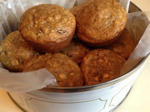 Kathy's Applesauce Oatmeal Muffins