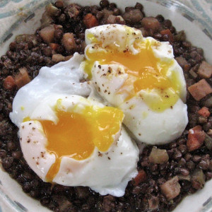 Doran's Spiced Lentils and Poached Eggs