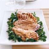 Lemon-Mint Chicken Cutlets on Watercress