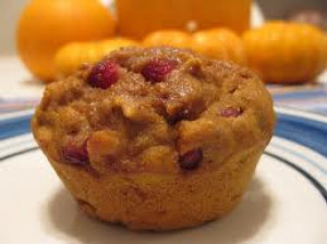 Healthy Pumpkin Pomegranate Muffins