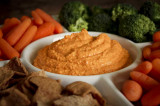 Hummus with Red Bell Peppers