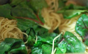 Jeff's Spinach with Angel Hair Pasta