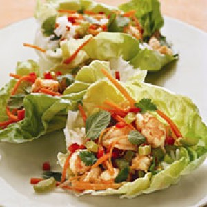 Vietnamese-Style Shrimp in Lettuce Cups